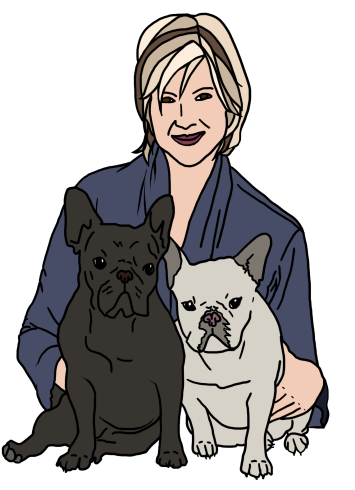 It's Martha Stewart with some puppies. You know who that is, right? No?
